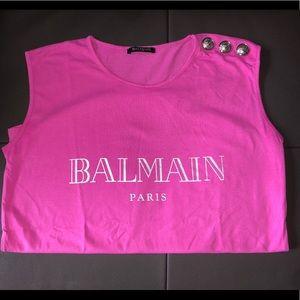 Balmain Three Button Logo T-Shirt